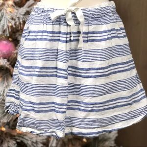 J.Crew Women's Blue White Striped Mini Skirt ✨